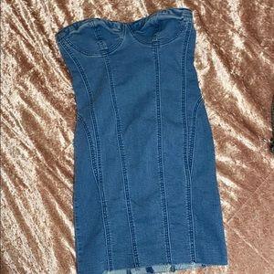 Womens denim mini dress